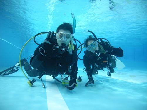 ダイビングプール実習