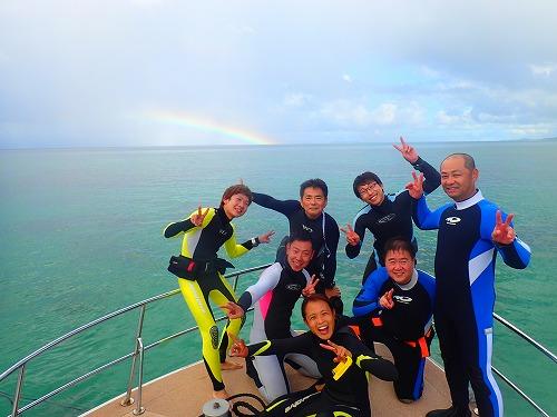 西表島での虹